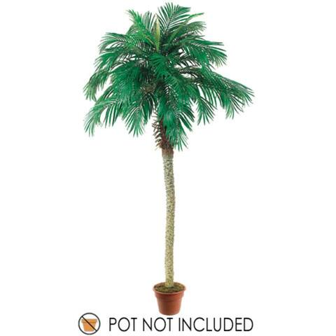 Set of 2 Artificial Phoenix Palm Trees 8' - Green - N/A