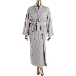 Natori Womens Cable Knit Fleece Lined Long Robe - XL