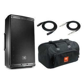 """JBL EON612 Speaker Sound System with JBL Carrying Bag, 2 XLR and 1/4"""" TRS Cables"""