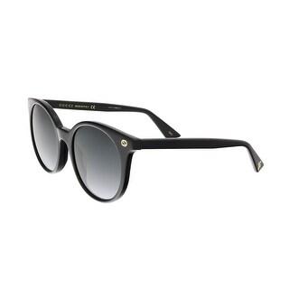 Gucci GG0091S 001 Black Round Sunglasses - 52-20-140