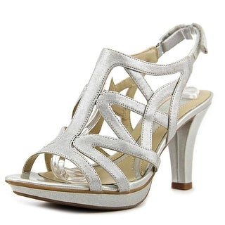 Naturalizer Danya Women W Open Toe Synthetic Silver Sandals