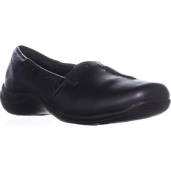 Easy Street Purpose Slip-On Flats, Black Smooth