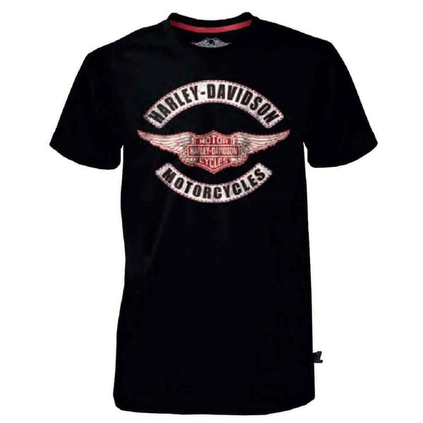 Harley-Davidson Men's Black Label Genuine Wings B&S T-Shirt, Black 30291521