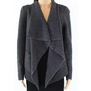 Lauren By Ralph Lauren NEW Gray Womens Medium PM Petite Knitted Sweater