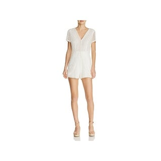8ad11fc0ca8b Shop Ramy Brook Womens Annanee Romper Lace Short Sleeves - On Sale - Free  Shipping On Orders Over  45 - Overstock - 21145984
