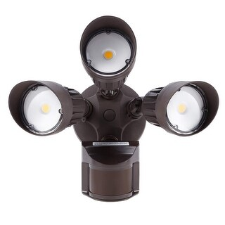 30w 3 Head Motion Activated Led Outdoor Security Light Floodlight With Photo Sensor Ping The Best Deals On Flood Lights