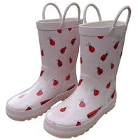 Pink Lady Bug Toddler Girls Rain Boots 5-10