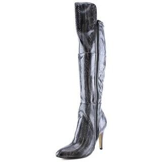 Mia Anastasia Women Pointed Toe Synthetic Black Over the Knee Boot