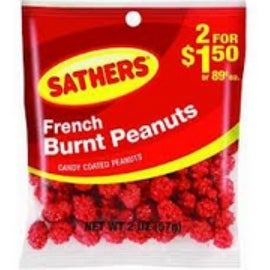 Sathers French Burnt Peanuts 12 pack (2oz per pack)