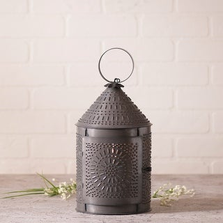 Irvin's Country Tinware 15-Inch Fireside Lantern in Blackened Tin