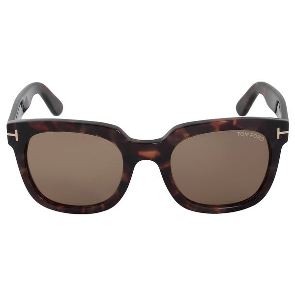 4abe9f77bfa5 Shop Tom Ford Campbell Square Sunglasses FT0198 56J 53 - Free ...