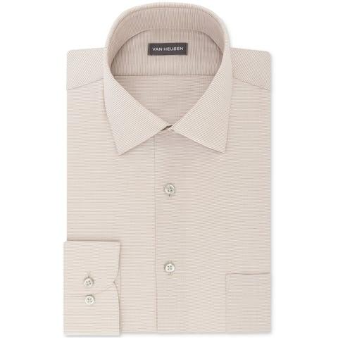 Van Heusen Mens Micro Button Up Dress Shirt