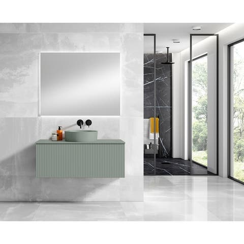 """Lucena Bath 40"""" Bari Vanity With Matching Top and Vessel Sink"""
