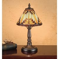 Meyda Tiffany 66223 Stained Glass / Tiffany Accent Table Lamp from the Mission Collection - tiffany glass - n/a