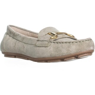 White Mountain Scotch Moccasin Loafers, Sage Green - 9 us