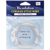 Silver Round - 24 Gauge; 37.4' - German Style Wire