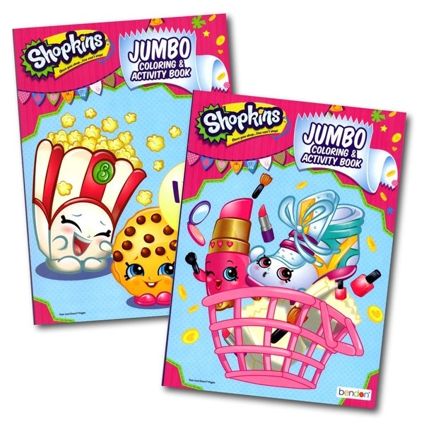 Shopkins Learning Jumbo Coloring & Activity Book 2 Pcs-(Style May Vary)
