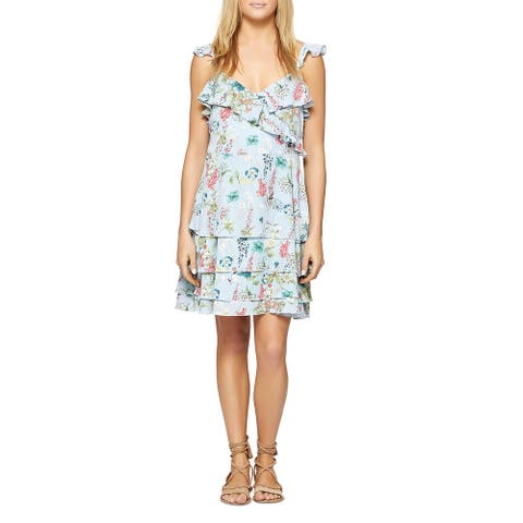 Sanctuary Womens Capri La Havana Sundress Floral Ruffled - Botanical Bluebell