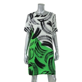 Vince Camuto Womens Printed Short Sleeves Wear to Work Dress - 6