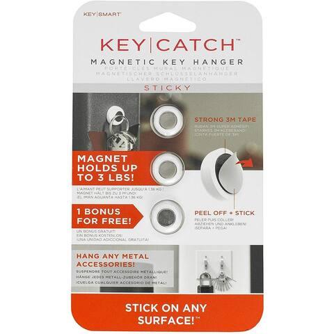 Keysmart KeyCatch Sticky Magnetic Key Rack - 3 Pack - One Size
