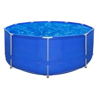 vidaXL Above Ground Swimming Pool Steel Frame Round 12' x 4'