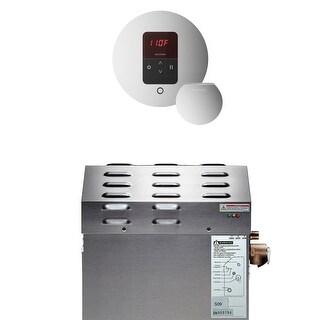 Mr Steam 90EC1 ITEMPORD 5kW Steam Bath Generator with iTempo Round Control - Polished chrome - N/A