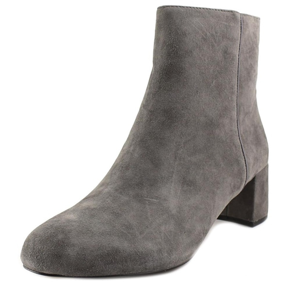 Adrienne Vittadini Louisa Women Round Toe Suede Gray Ankle Boot