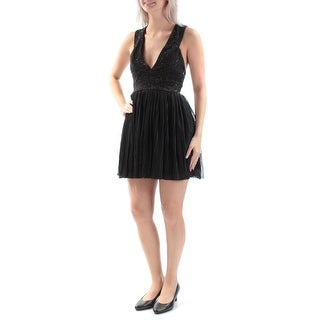 Womens Black Sleeveless Mini Baby Doll Prom Dress Size: 5