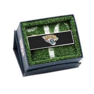 Stainless Steel and Enamel Jacksonville Jaguars Money Clip - Multicolored