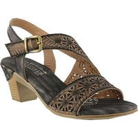 L'Artiste by Spring Step Women's Noreen Slingback Grey Leather