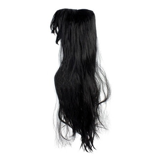 Black Long Women Adult Halloween Wig Costume Accessory - One Size - One Size