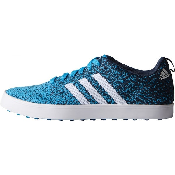 reputable site 82b63 7423c Shop Adidas Mens Adicross Primeknit CyanWhiteMineral Blue Golf Shoes  F33349 - Free Shipping Today - Overstock - 19875529