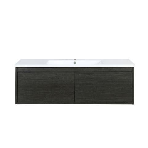 Lexora Sant 48 in. Single Bath Vanity in Iron Charcoal with Countertop