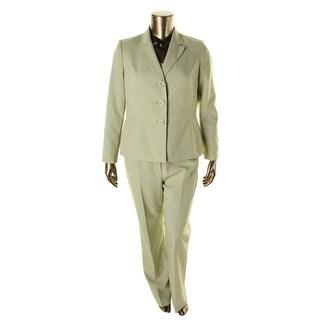Le Suit Womens Yacht Club 2PC Pinstripe Pant Suit