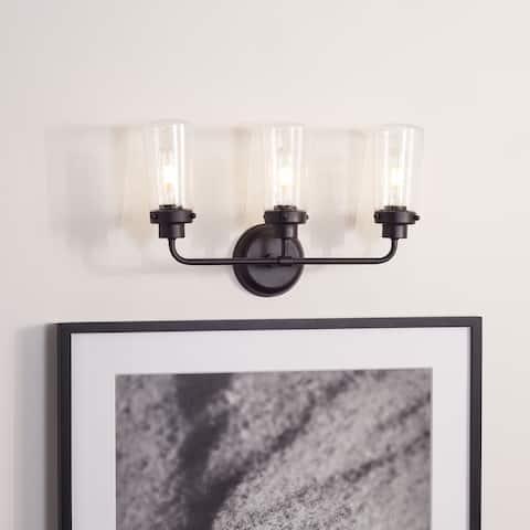 "SAFAVIEH Lighting Derser 3-light LED Vanity Sconce - 19.3"" W x 5.9"" L x 11.8"" H"