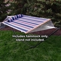 Sunnydaze 2-Person Quilted Hammock with Spreader Bars and Detachable Pillow - Thumbnail 17