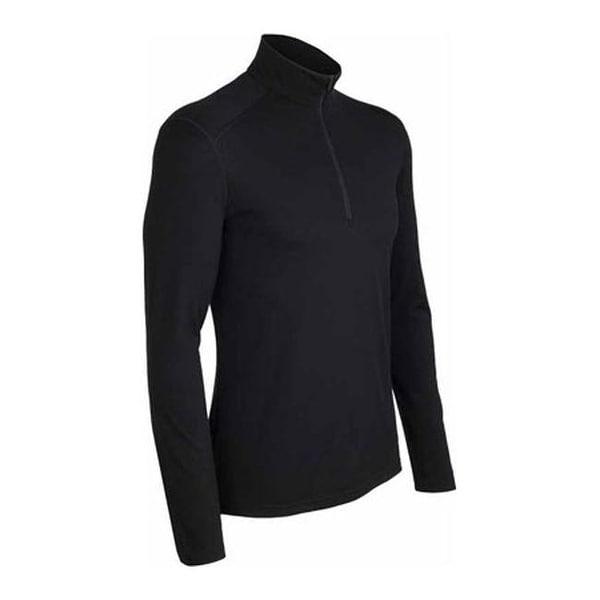 eeda453600 Shop Icebreaker Men's Oasis LS Half Zip Black - Free Shipping Today -  Overstock - 18480573
