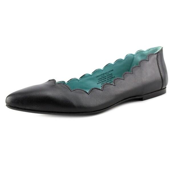 29 Porter Rd Mishka Scalloped Edge Ballet Slipper Women Black Ballet Flats