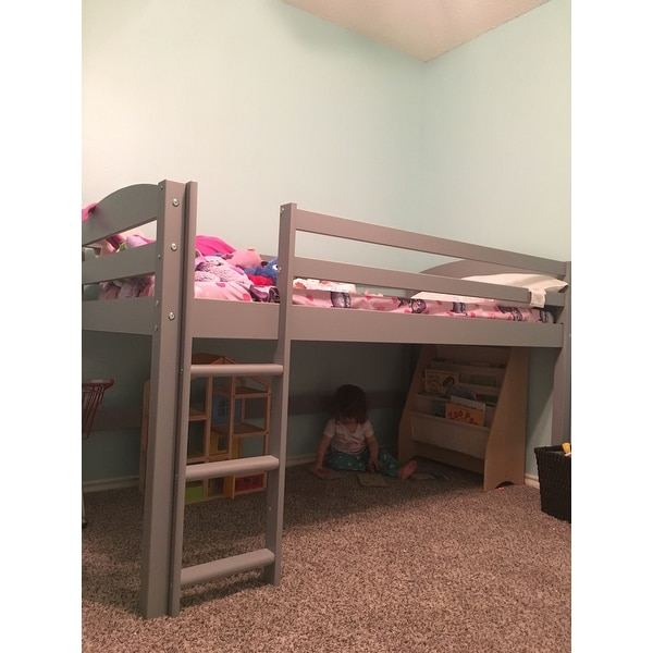 Low Loft Twin Bed With Ladder Free Shipping Today 18843886