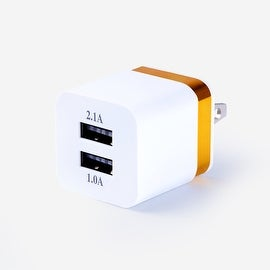 Wall Charger, 2.1A and 1A 2-port USB Charger Power Adapter Travel Charger Charging Station 2.4A Each Port for Apple iPhone, Ipad