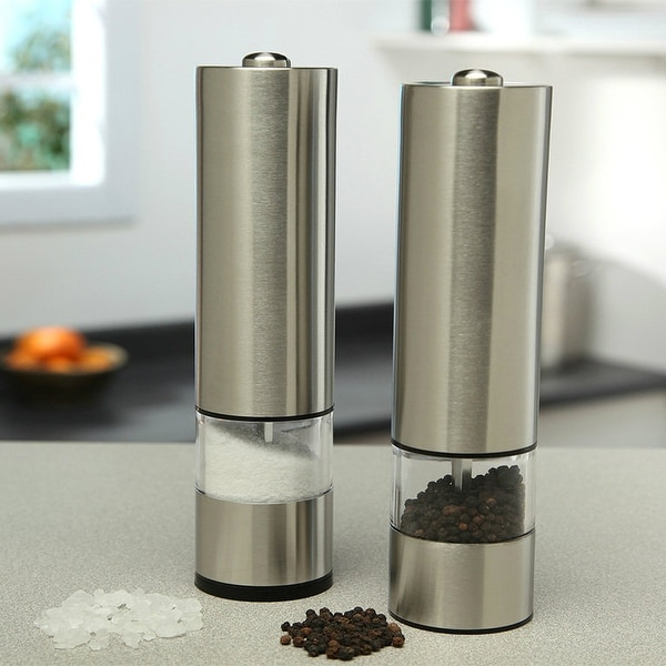 2 PCS Electric Salt And Pepper Grinder