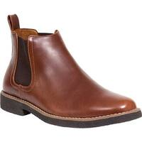 Deer Stags Men's Rockland Chelsea Boot Redwood/Dark Brown Simulated Leather