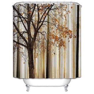 Wizened Tree Decor Collection Waterproof Bathroom Shower Curtain