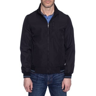 Perry Ellis Poly Bonded Zip Front Jacket