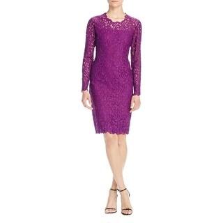 Elie Tahari Womens Bellamy Cocktail Dress Lace Long Sleeves