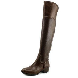 Vince Camuto Baldwin Round Toe Leather Over the Knee Boot