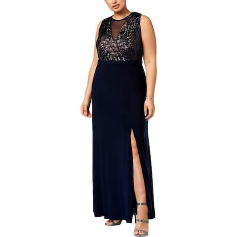 Nightway Womens Plus Evening Dress Formal Sleeveless