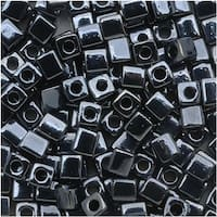 Miyuki 4mm Glass Cube Beads Metallic Gunmetal 451 10 Grams