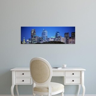 Easy Art Prints Panoramic Images's 'Night, Philadelphia, Pennsylvania, USA' Premium Canvas Art
