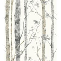 "RoomMates RMK9047WP 20-1/2"" x 198"" - Birch Trees - Self Adhesive Vinyl Film - 28.18 Sq. Ft. - N/A"